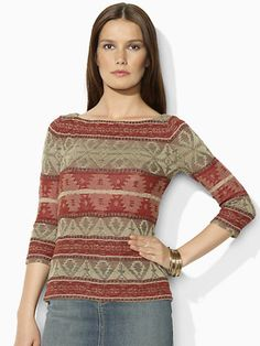 Linen Boatneck Top - Crewnecks & Tanks  Sweaters - RalphLauren.com