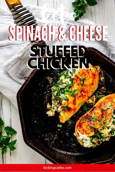 Few foods satisfy like cheesy chicken. I like to prepare this Keto Spinach Stuffed Chicken recipe on Sunday to enjoy for an energizing meal throughout the week. I think you will find that this low carb chicken recipe is madly addictive and deserves to become a habit. f