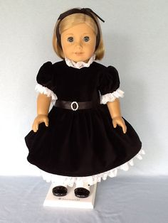 18 inch doll  party dress. Fits American Girl by ASewSewShop