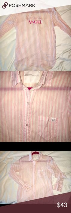 Victoria Secret Supermodel Essentials botton down Victoria's Secret Supermodel Essentials long botton down shirt. Fits really cute and sexy🎀 Victoria's Secret Intimates & Sleepwear Chemises & Slips