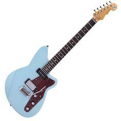 Guitare Fender Stratocaster, Reverend Guitars, Classic, Cover, Blue, Vintage, Design, Derby