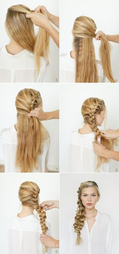 #braid #hairstyle #vintage #easy #pretty #hair #cabello #peinado #trenza de dos cabos #trenza #lindo #fácil #paso a paso #step by step #side bride #messy
