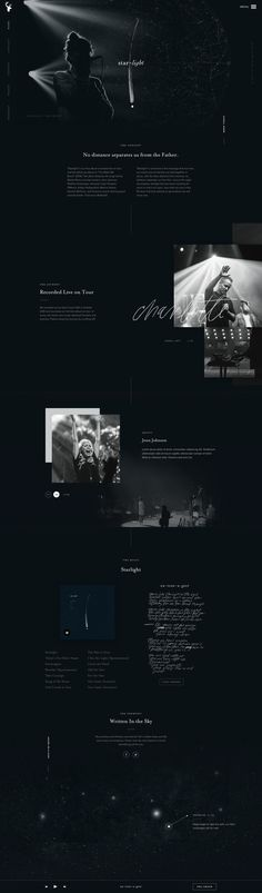 Christian smith bethel music star light full landing page website design