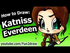 How to Draw Katniss Everdeen - Hunger Games - Fun2draw Drawing Tutorial