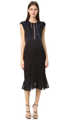 Rebecca Taylor Sleeveless Vien Lace Dress