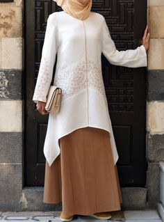 Hijab Fashion 2016/2017: Pair with a skirt for an elegant Eid look. Soreya Embroidered Tunic from Shukr Islamic Clothing