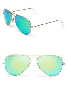 Reflective mirrored Ray-Ban aviators