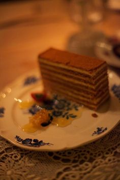 Honey Cake  (Mari Vanna's Russian decadence) Honey Cake, Russian Recipes, Sweet Desserts, Sweet Tooth, Deserts, Cakes, Drink, Breakfast, Food