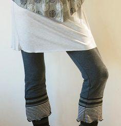 White cotton capri pants, white boho pants, loose wide leg pants ...