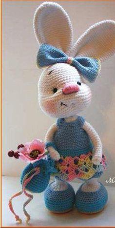 Crochet pattern Rabbit Goldy, Pattern crochet bunny, How to do Hare, Crochet toy inctruction, English Tutorial amigurumi Tutorial Amigurumi, Amigurumi Patterns, Amigurumi Doll, Crochet Patterns, Crochet Bunny, Crochet Animals, Crochet Dolls, Crochet Rabbit Free Pattern, Confection Au Crochet