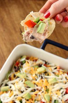 Lightened Up Taco Dip Recipe l www.a-kitchen-addiction.com