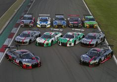 Audis Armada für das 24h-Rennen 2017