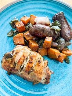Chicken Sausage, Gluten Free Chicken, Peppers And Onions, Roasting Pan, Italian Seasoning, Fresh Lemon Juice, Stuffed Green Peppers, Pot Roast, Stew