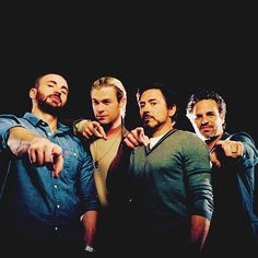 The men of the Avengers cast. Yummy!