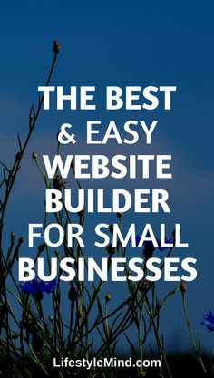 Easy website builder for small businesses that you can get started with! Garden Web, Website Layout, Create Website, Business Tips, Did You Know, Good Things, Blog, Web Layout, Blogging