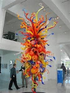 Dale Chihuly Glass Sculpture, at the Milwaukee Art Museum Dale Chihuly, Broken Glass Art, Sea Glass Art, Stained Glass Art, Fused Glass, Cristal Art, Milwaukee Art Museum, Art Design, Art Plastique