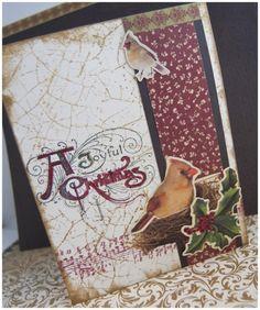 Angela Fehr: 13 Vintage Elegant Christmas Cards with Kaisercraft Turtle Dove