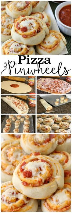 Pizza Pinwheels are made from a soft, homemade dough with delicious toppings inside and melted cheese on top, they are an amazing weeknight meal!