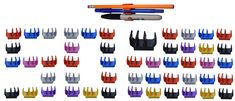 (50 pk) Multi-colored Magnetic pencil pen and slim dry erase holder clip - Best for fridge, locker, board, cubicle, whiteboard, refrigerator, memo pad- Great for kids, girls, boys, teacher, student
