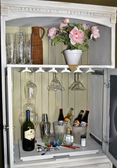 Repurposed Entertainment Center into Bar - Bing Images