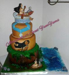 Pocahontas theme cake please follow me on Instagram @sweetyumyums  or on fb Alexsandra's Sweet Yumyums
