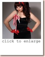 PRETTY DISTURBIA BURLESQUE PIN UP GIRL ROCK ROCKABILLY BOW DRESS 1