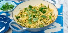 Get Crab Spaghetti with Zucchini and Basil Recipe from Food Network. Just saute the zucchini, cook the pasta, and stir together the rest Basil Recipes, Best Pasta Recipes, Seafood Recipes, Rice Recipes, Crab Spaghetti, Crab Pasta, Seafood Pasta, Seafood Dishes, Recipes