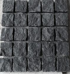 MIDNIGHT COBBLESTONES with a natural split surface Outdoor Pavers, Stair Railing Design, Construction Group, Driveways, Stairs, Surface, Exterior, Floor, Texture
