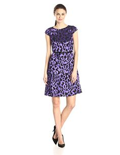 Anne Klein Women's Cap Sleeve Belted Printed Swing Dress, Iris/Black, 6 Anne Klein http://www.amazon.com/dp/B00MW2R7QY/ref=cm_sw_r_pi_dp_Vhmivb06BJG6M