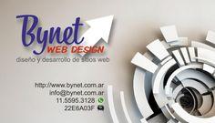 Tarjeta personal para Bynet Web Design