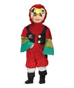 Take a look at this Red Pirate Parrot Dress-Up Set - Toddler by Disguise on #zulily today!