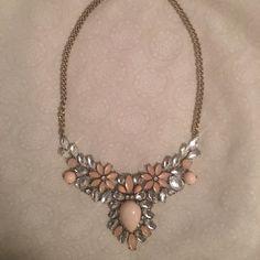 Pink Statement Necklace Statement necklace. Pink and rhinestone. Bib style Jewelry Necklaces