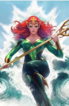 """16 New DC Comics Variant Covers for December and January from Stanley """"Artgerm"""" Lau, Jim Lee, Bill Sienkiewicz, Jenny Frison and Marvel Dc Comics, Mera Dc Comics, Heros Comics, Dc Comics Art, Dc Heroes, Dc Comics Girls, Comic Book Characters, Comic Character, Comic Books Art"""