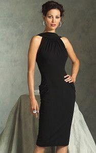 black-cocktail-dress - love the neckline