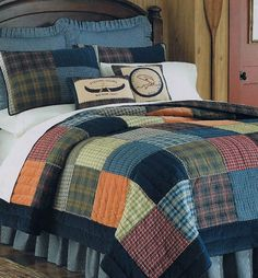 Bedroom - Northern Plaid Quilt_The Country Porch - no fish or other animals