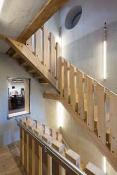 6a architects – Blue Mountain School Stair Handrail, Blue Mountain, Galvanized Steel, Solid Oak, Stairs, School, Staircase Ideas, Modern, Architects