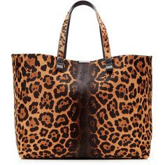 Victoria Beckham Simple Shopper Printed Calf Hair Tote ($1,520) ❤ liked on Polyvore featuring bags, handbags, tote bags, animal print, shopping bag, polka dot handbags, animal print tote bags, shopping tote bags and pattern tote bag