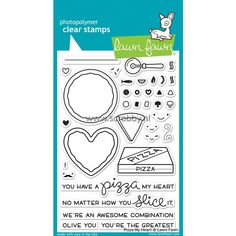 Create fun pizza party invites or tell someone how much you love them with a special card using the Pizza My Heart Clear Acrylic Stamp Set by Lawn Fawn. Online Scrapbook, Scrapbooking, Heart Shaped Pizza, Lawn Fawn Stamps, Card Sentiments, Love Days, Simon Says Stamp, Sewing Stores, Clear Stamps
