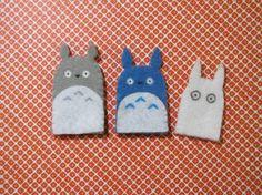 O Totoro, Chu Totoro and Chibi Totoro Finger Puppets