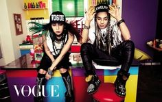 G-Dragon and Taeyang go punk rock for their first duet pictorial in 'VOGUE'