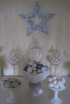 Little Big Company | The Blog: Silver and White Christmas Table by Make it Shine Events