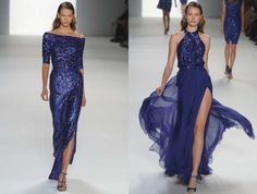 blues evening gowns