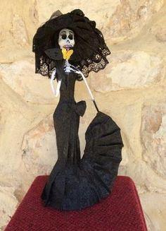 Paper Mache Day of the Dead  Widow Catrina