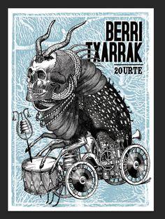 berri txarrak / serigrafia