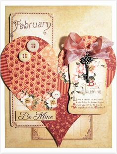 "Learn how to make this ""Be Mine"" card with this printable project sheet. Click to get to the tutorial!"
