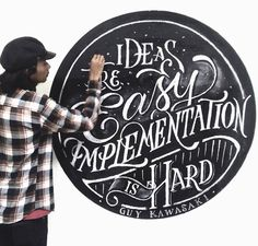 """Ideas are easy, implementation is hard"" by Talenta Priyatmojo"