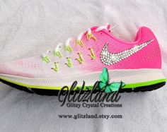 Swarovski Sport Fuchsia   Pink Nike Air Zoom Pegasus 34 Customized with  SWAROVSKI® Crystals dba4610b6c30