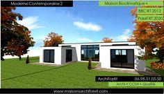 """Résultat de recherche d'images pour """"plan maison cube toit plat"""""""
