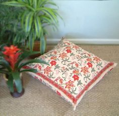 Amazon.com: Tropical Garden ~ Colorful Country Floral Euro Pillow Sham Cover 27x27: Home & Kitchen