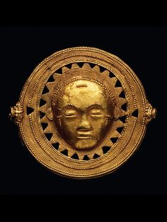 AKAN TRAILER Ivory Coast. B 7 cm. Gold alloy, about 9.6 carat